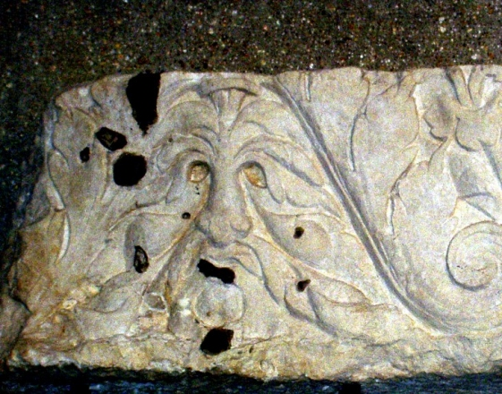 Roman Green Man (c. 1st or 2nd Century CE) in Mus�e de V�sone, P�rigueux, Dordogne, France (photo Julianna Lees)