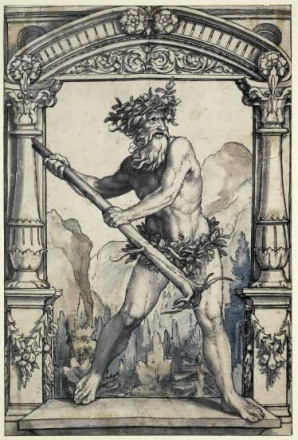 Woodwose (Wild Man) by Hans Holbein the Younger (in British Museum)