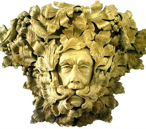 The famous Green Man in St. James' Church, Sutton Benger, Wiltshire, England (photo Tina Negus)